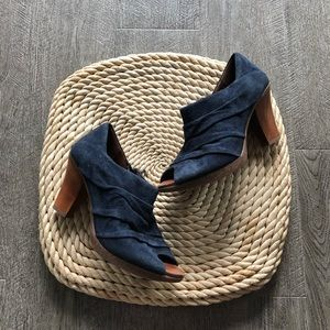 Naya suede heeled booties